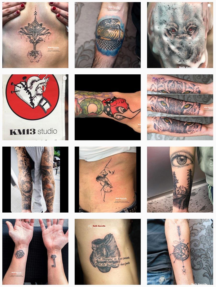 Instagram - Ruth Cuervilu Tattoo - KM13 Studio
