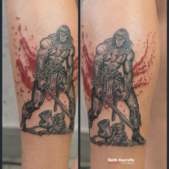 ruth cuervilu tattoo - tatuaje Conan el Bárbaro, comic