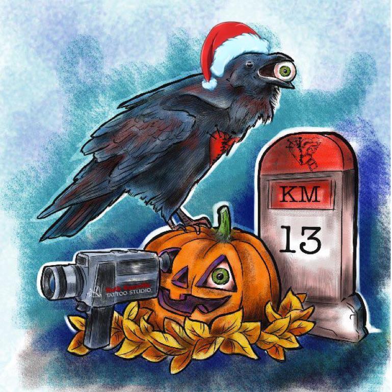 El cuervo de Edgar Allan Poe, desde KM13 Studio, os desea felices fiestas