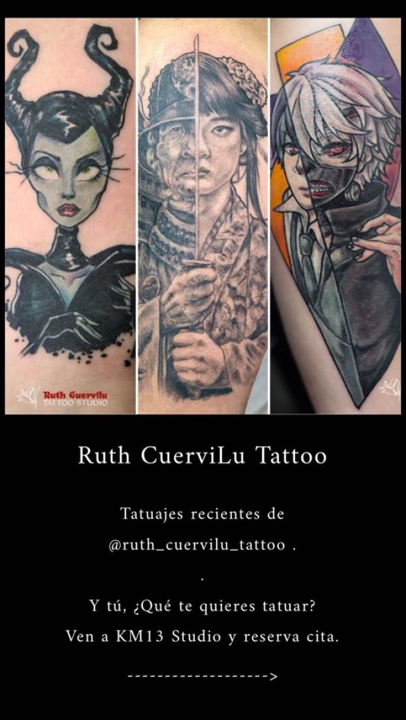 Trabajos recientes de Ruth Cuervilu Tattoo en Km13 Studio