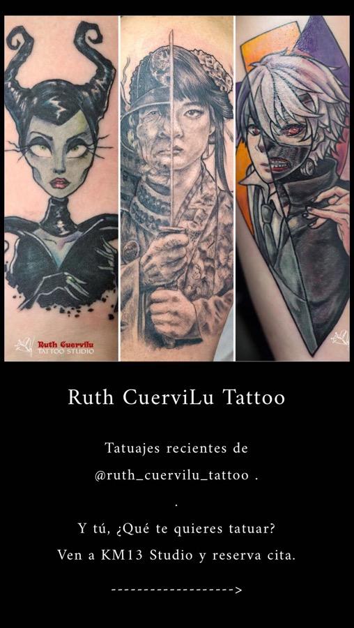 Trabajos recientes de Ruth Cuervilu Tattoo