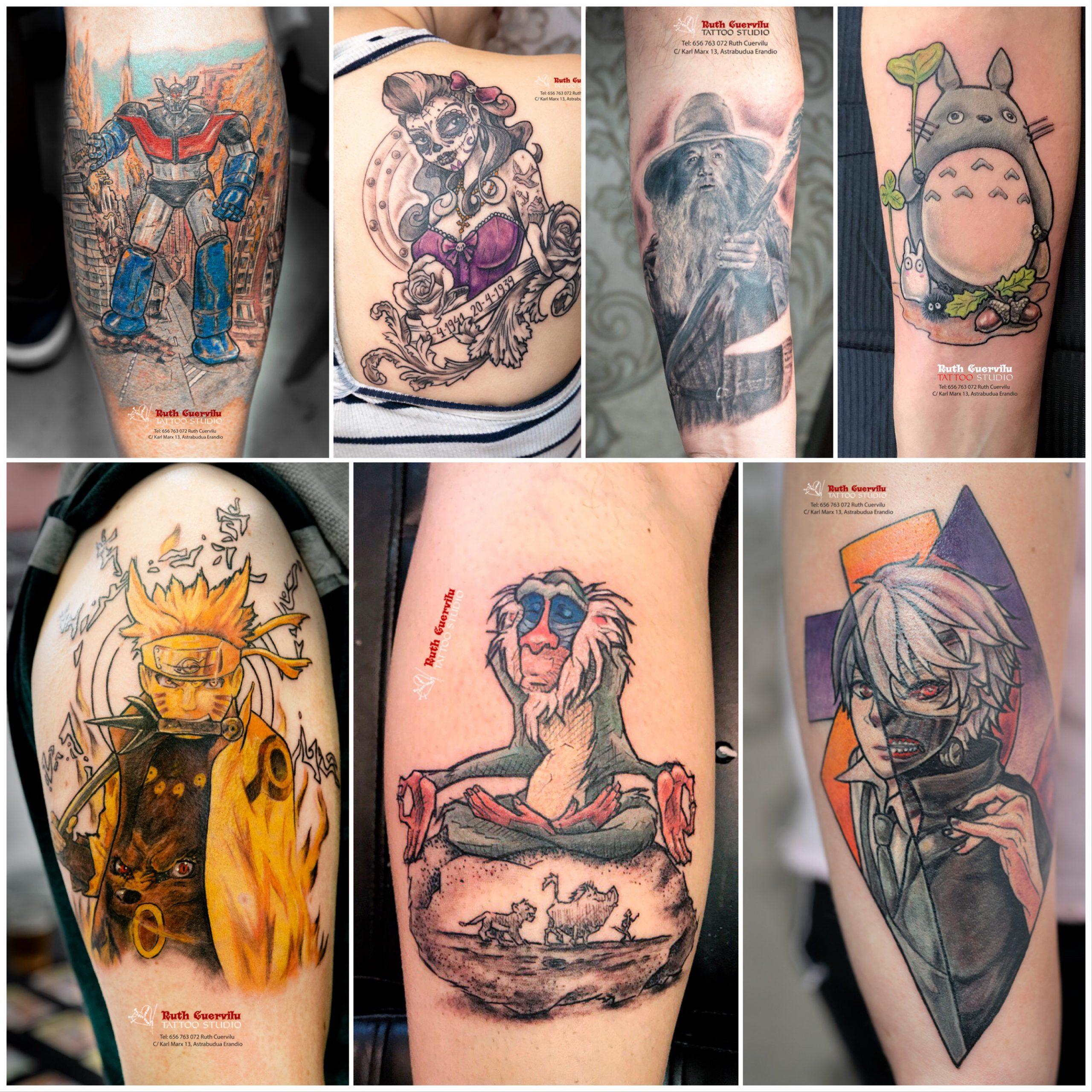 Tatuajes Anime, manga o cómic Ruth Cuervilu Tattoo