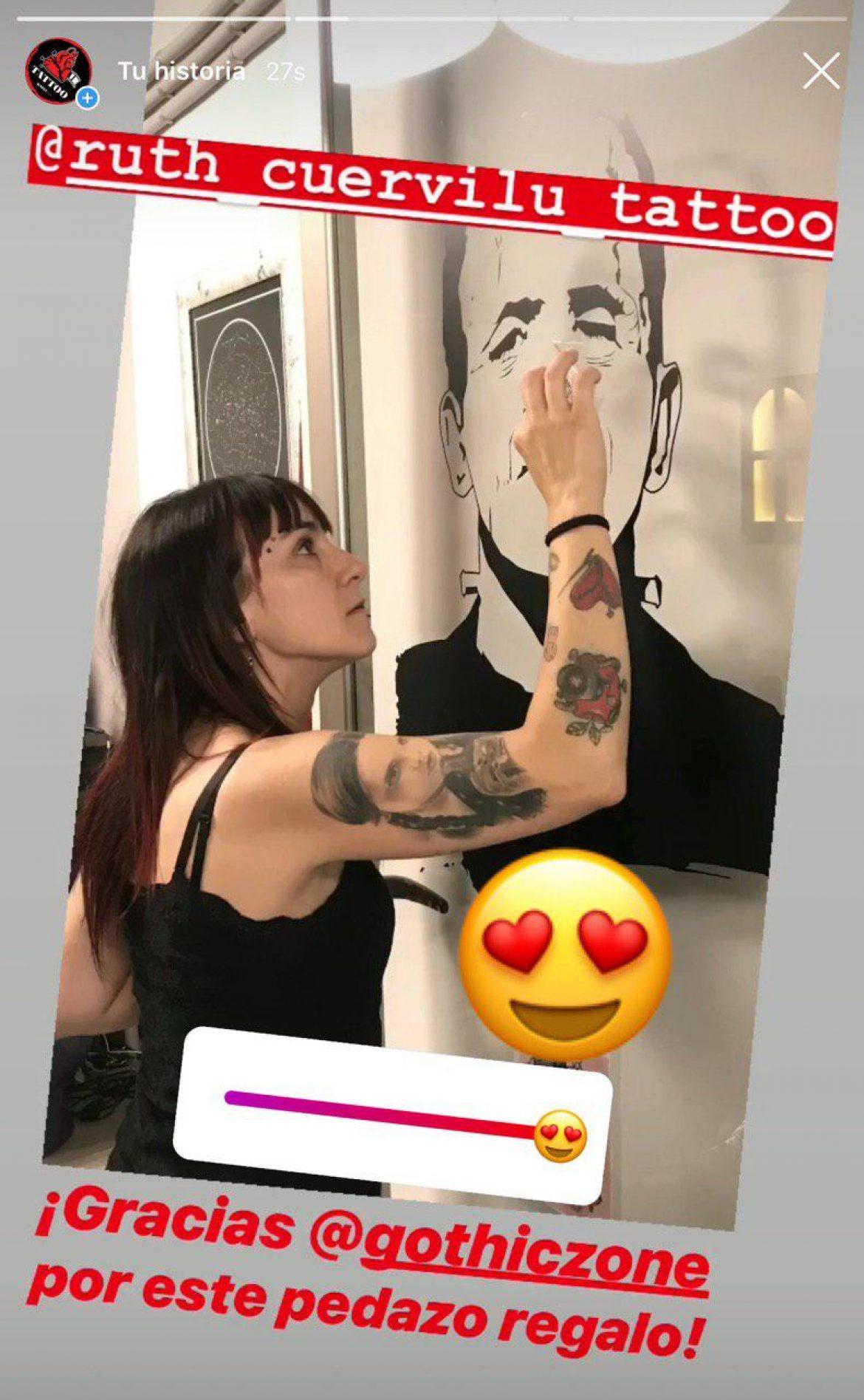 Frankie en KM13 Studio - Ruth Cuervilu Tattoo. Estudio de tatuajes en Astrabudua, Erandio, Bizkaia