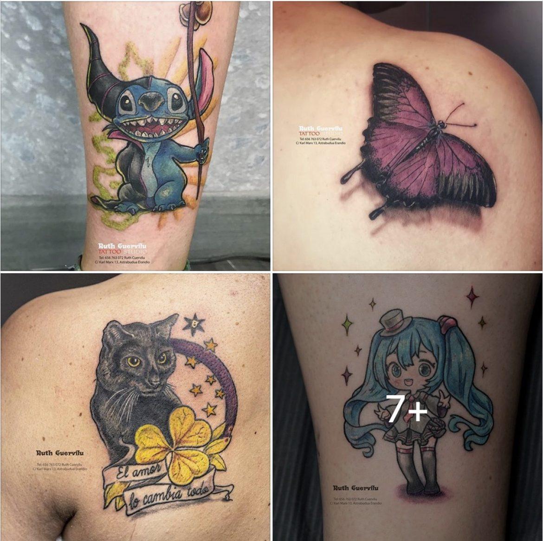 Tatuajes recientes hechos por Ruth Cuervilu Tattoo en KM13 Studio