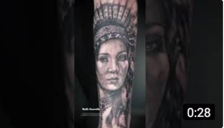 Tatuando Realismo - India Finalizado - Ruth Cuervilu Tattoo - KM13 Studio - Estudio de tatuajes Astrabudua Erandio Bizkaia Bilbao