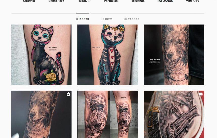Instagram de Ruth Cuervilu Tattoo